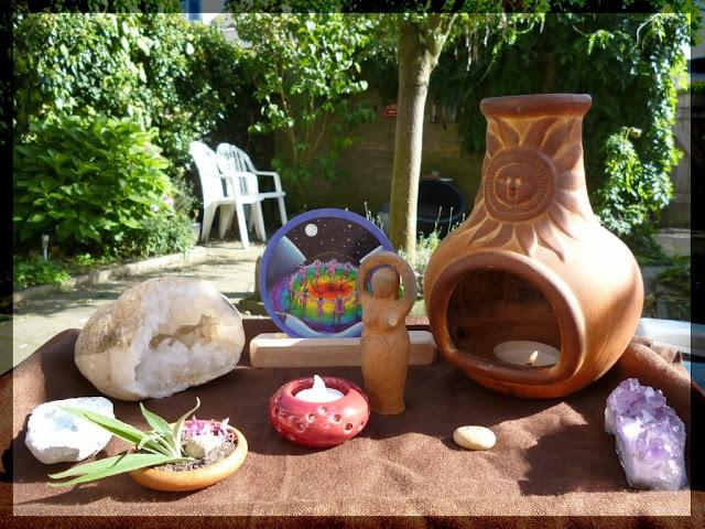 earth protection ritual altar