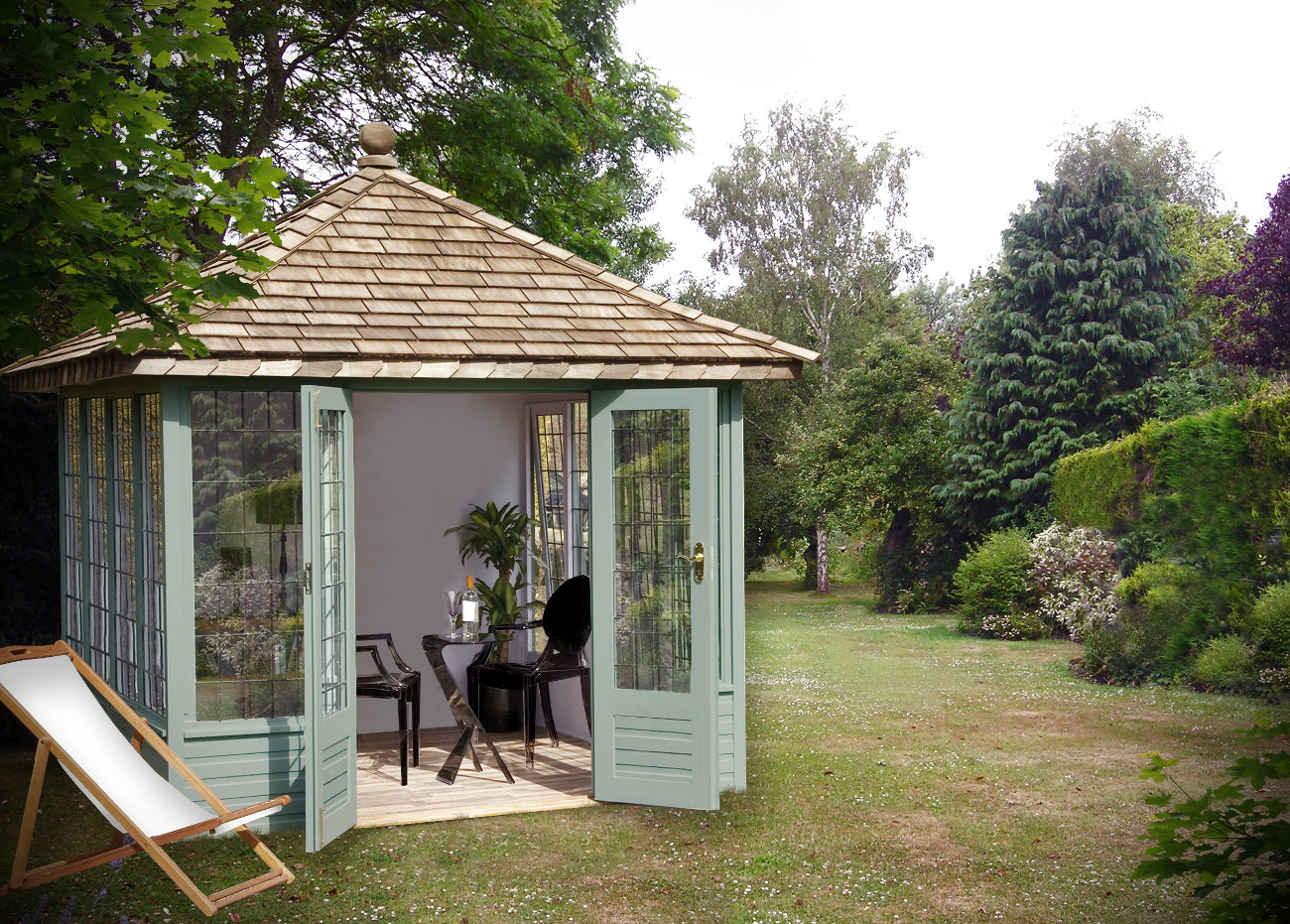 Garden summerhouses blog for Garden designs with summer house