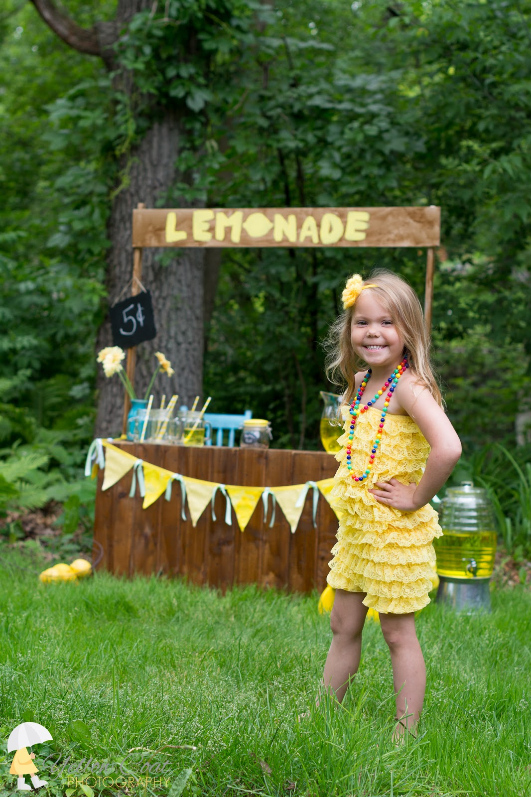 announcing summer mini sessions lemonade stand minis yellow