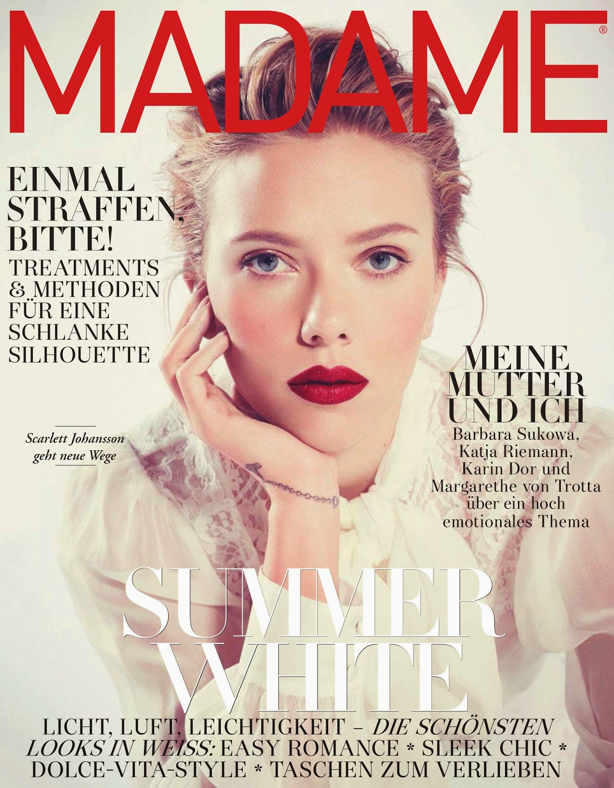Actress, Singer, Model @ Scarlett Johansson - Madame Germany May 2015