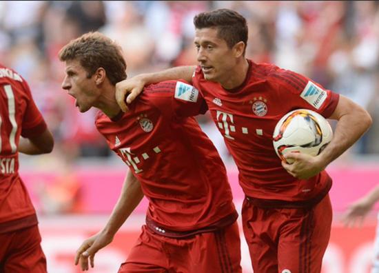 Bayern de Munique 2 x 1 Augsburg - Campeonato Alemão(Bundesliga) 2015/16