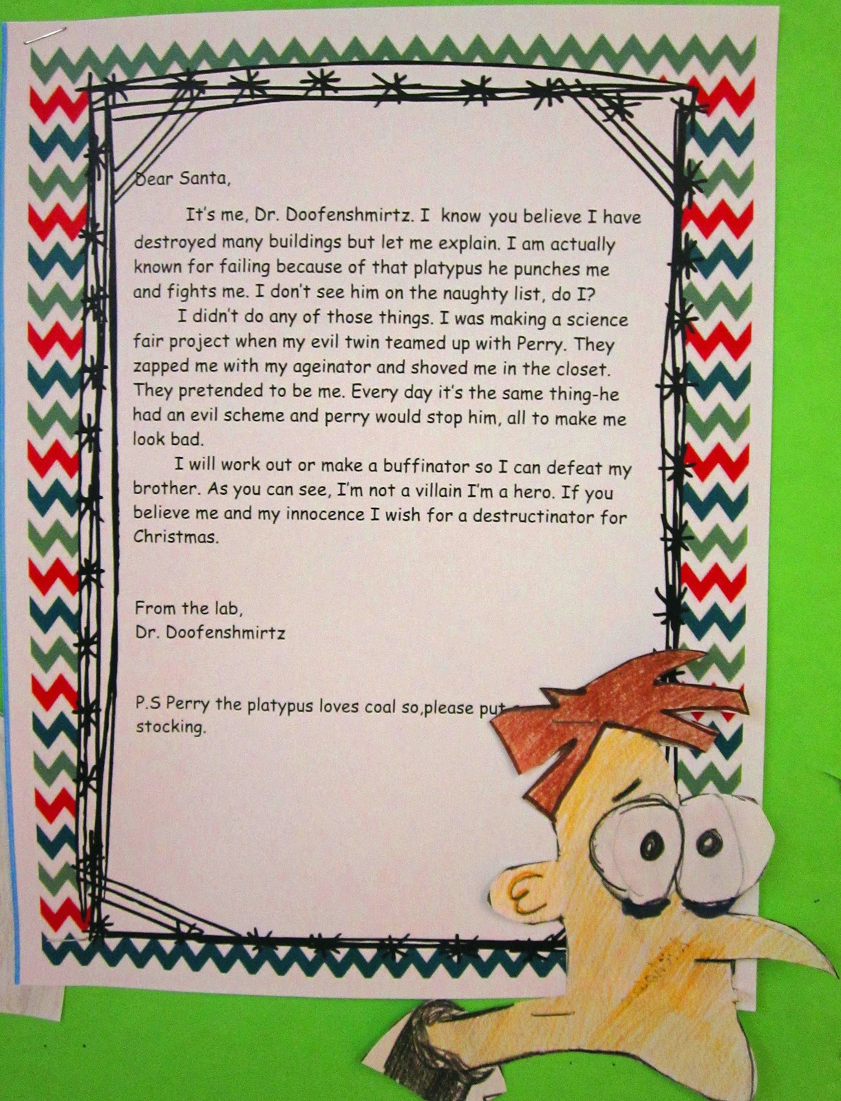 Sample Letter 5th Grade. Dear Santa  I Can Explain Runde s Room