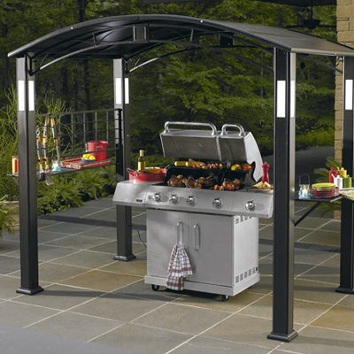 Grill Gazebo With Lights