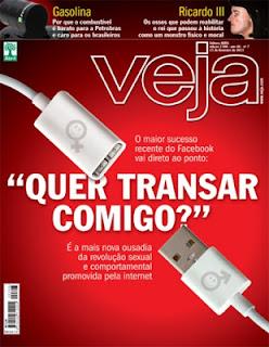 """Revista Veja - """"QUer Transar comigo?"""" - o """"Bang with friends"""" revoluciona as relações entre s jovens"""