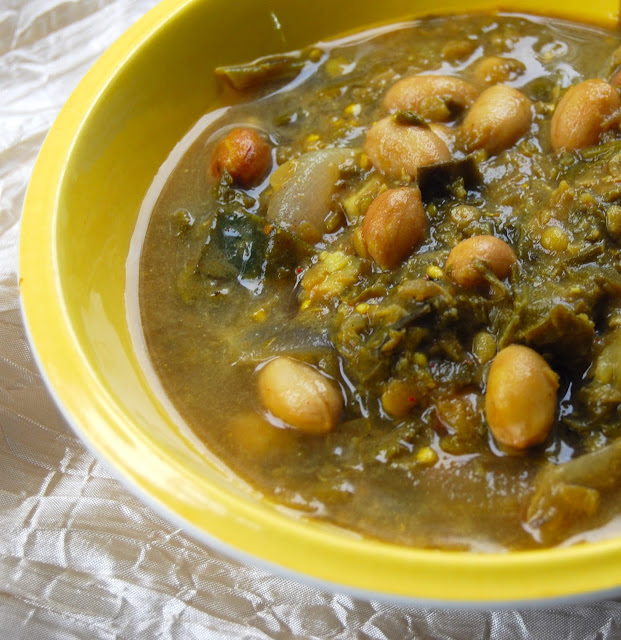 Kale Dal with Peanuts