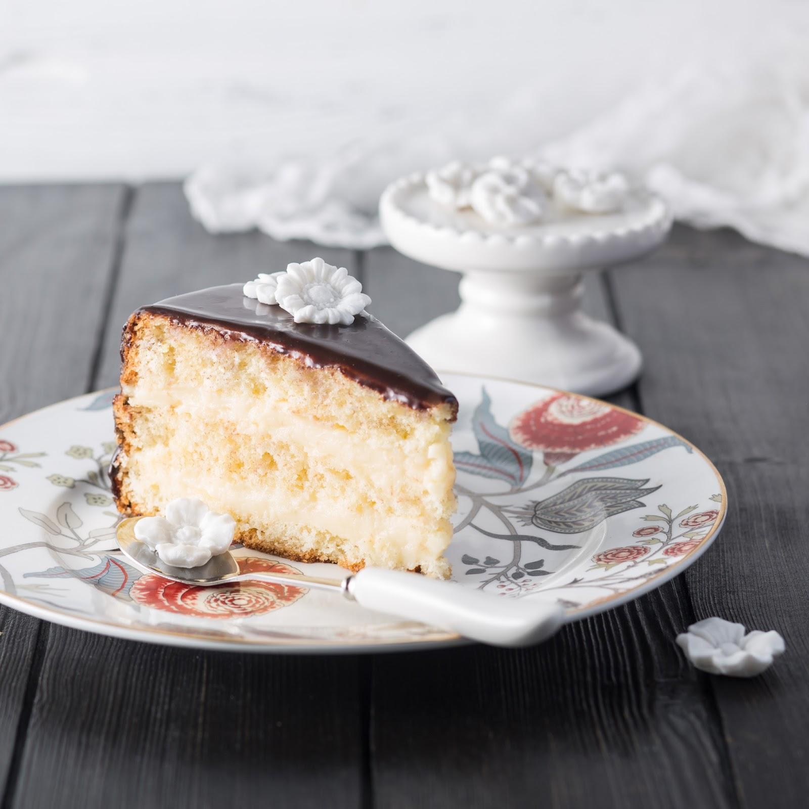 Кремовый пирог в нутрь