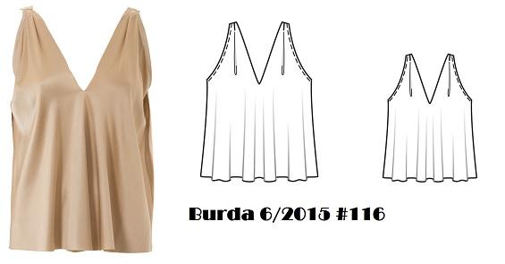 Burda 6/2015 #116 drape front blouse www.loweryourpresserfoot.blogspot.com