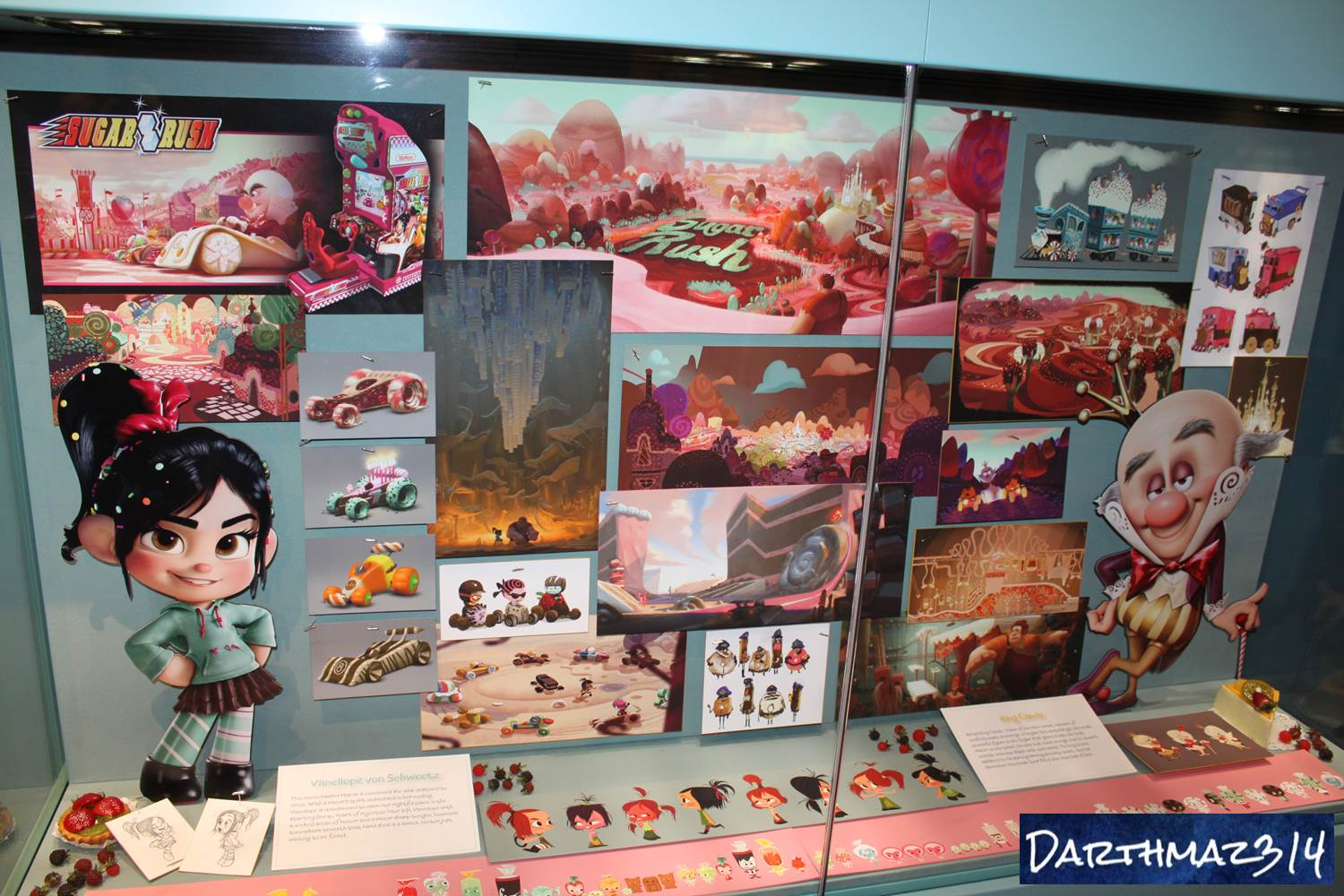 Darthmaz314 more photos of the magic of disney animation at concept art from wreck it ralph at the magic of disney animation courtesy darthmaz314 kristyandbryce Choice Image