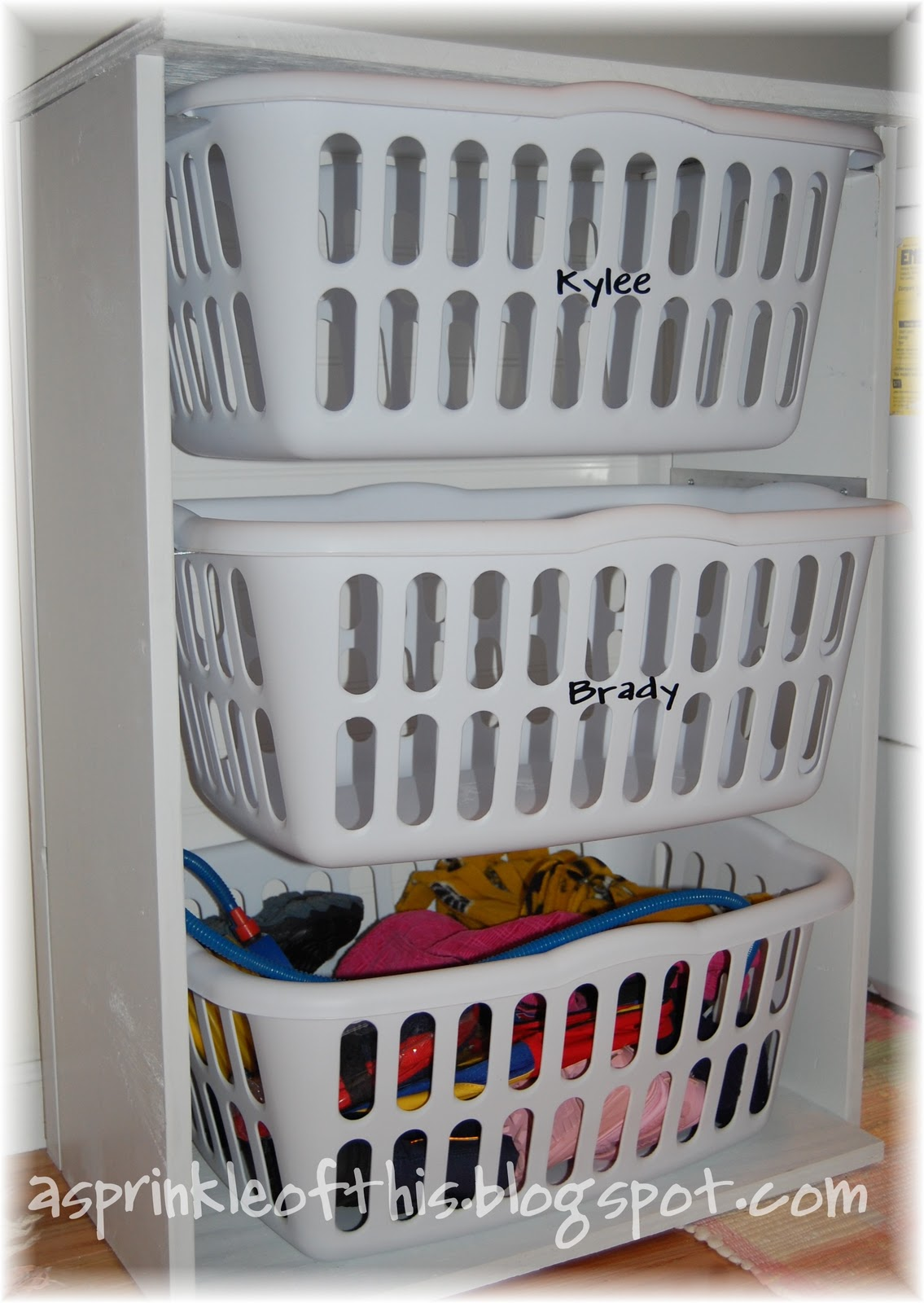 a sprinkle of this laundry room mud room organization