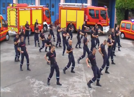 flashmob pompiers st priest