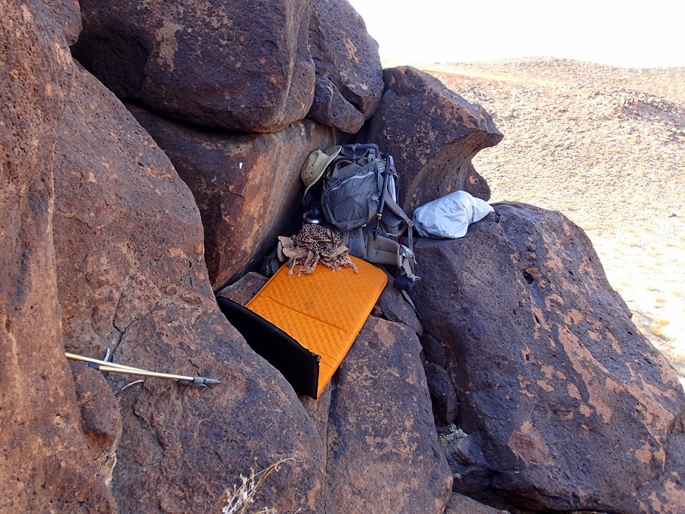 Shade on a perch high on a basalt ridge