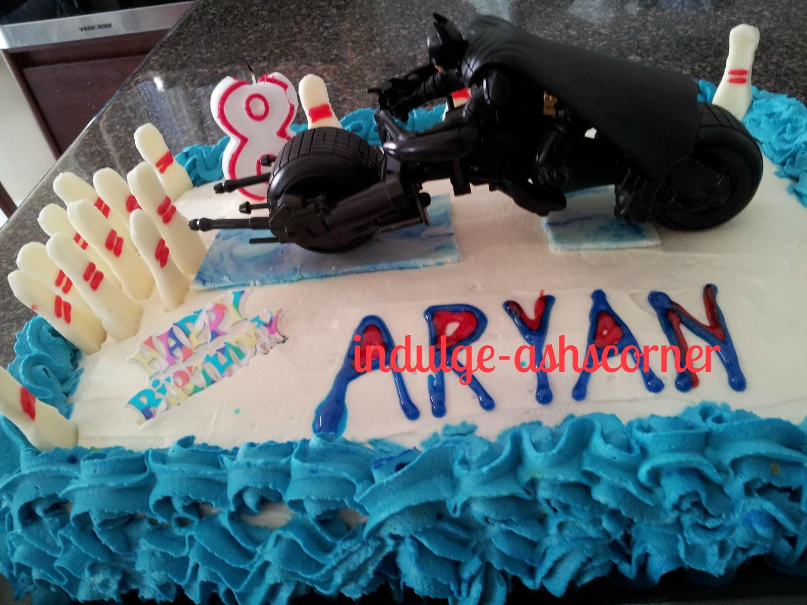 IndulgeAshscorner Batman The Dark Knight On The Bowling Track Cake - Dark knight birthday cake