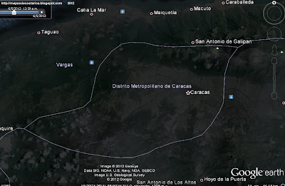 Mapa de CARACAS, capital de VENEZUELA, (google earth,vn)