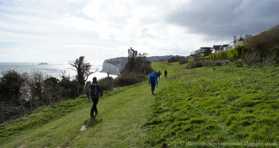 Walking along the White Cliffs of Dover, UK