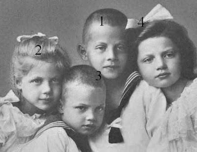 Les enfants d'Ernst II, duc de Saxe-Altenbourg et de la princesse Adelheid zu Schaumburg-Lippe