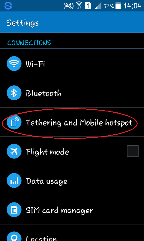 How to do Tethering in Smartphones
