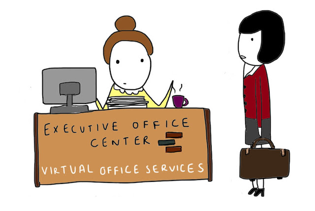 Virtual office services are perfect for this prospective tenant of the Executive Office Center at Fresh Meadows in Queens NY because she already has a virtual husband.