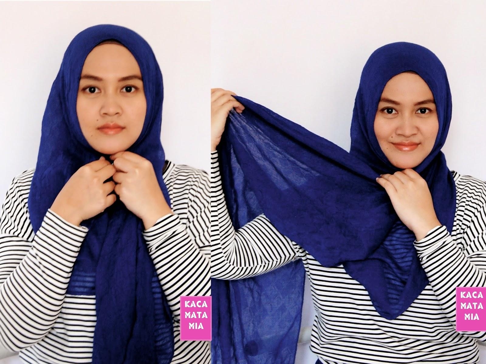 29 Gambarnya Tutorial Hijab Pashmina Denim Terupdate Tutorial