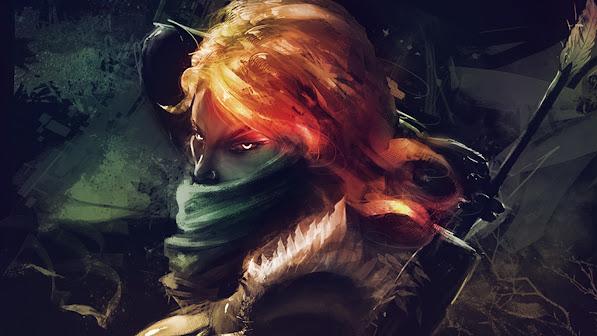 lyralei windranger girl dota 2 game hero