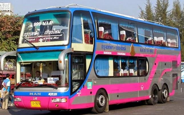 Bus von Bangkok nach Chiang Mai