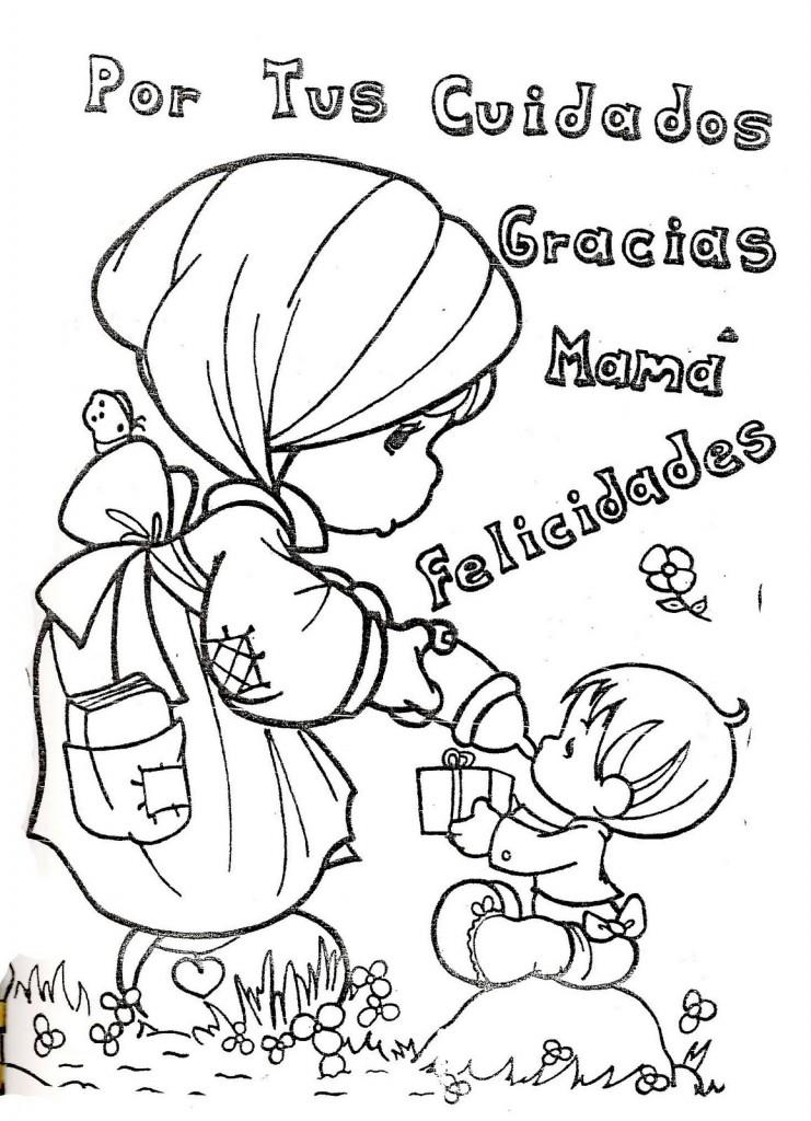 DIA De Las Madres Coloring Pages