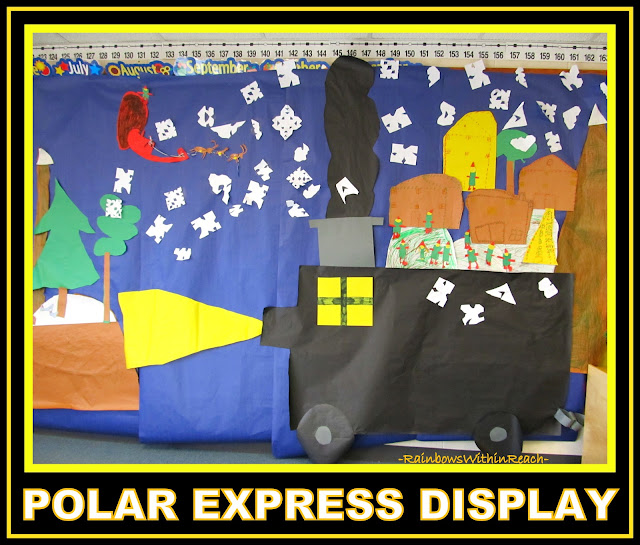 "photo of: ""Polar Express"" Classroom Wall Display (Christmas Bulletin Board RoundUP via RainbowsWithinReach)"
