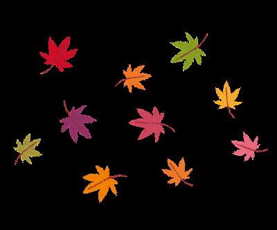 紅葉のイラスト「沢山のもみじ」