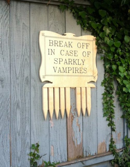 In case of Sparkly Vampires
