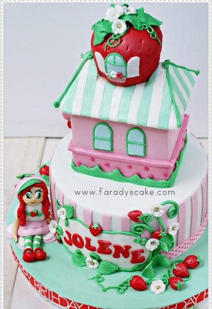 Strawberry Shortcake Castle Cake