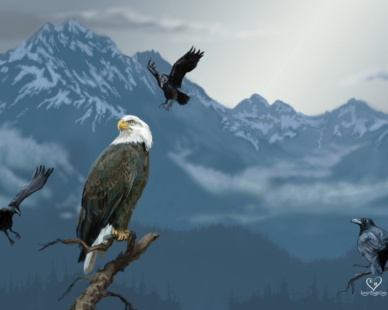 eagle 1280x1024 wallpaper - photo #13