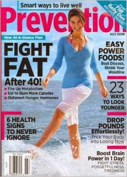 PREVENTION MAGAZINE JULY 2008 ; CLICK ON IMAGE TO ORDER