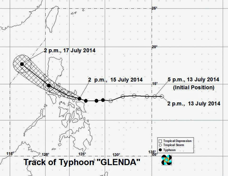 'Bagyong Glenda' is now over Albay Gulf, approaches Legazpi City