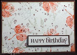 French Foliage Birthday Card