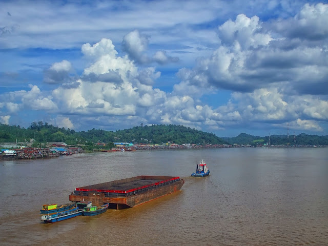 nice view in barito river banjarmasin