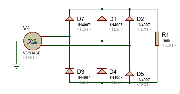 Circuito Retificador : Automação industrial retificador trifásico não controlado