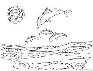 beach coloring pages, fish coloring pages