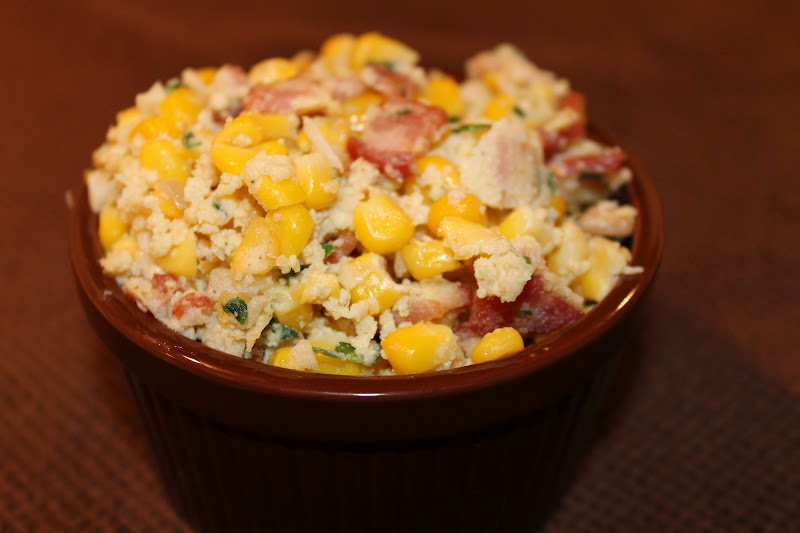 See Aimee Cook: Bacon & Sweet Corn Hash