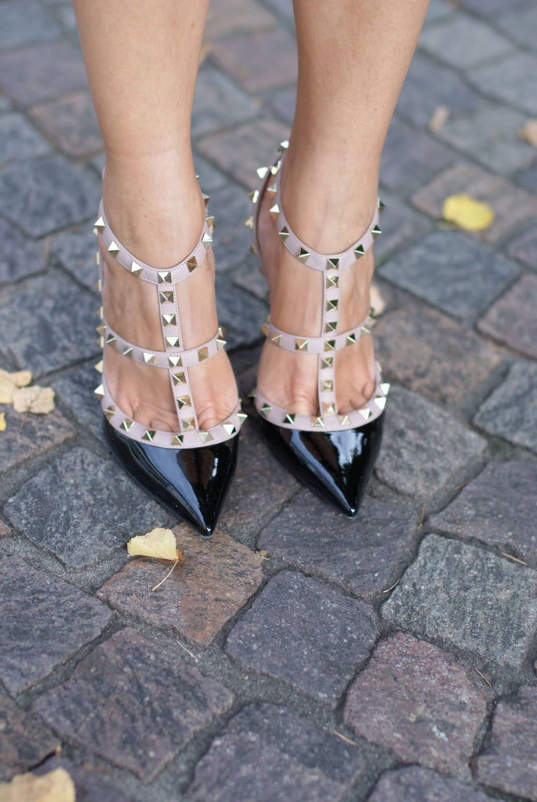 Valentino rockstud pumps patent heels, the real Valentino shoes on Fashion and Cookies fashion blog