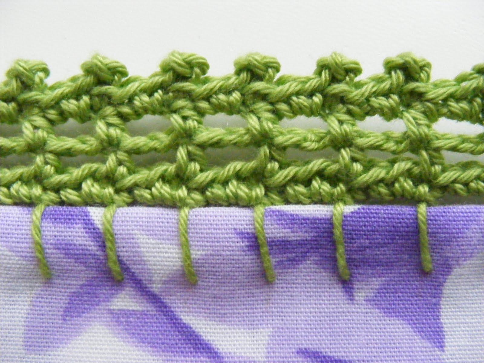 Bits And Bobs: Crochet Pillowcase Edge