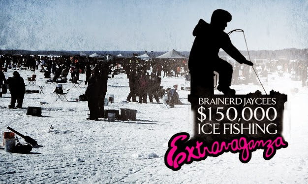 Lakes area latest brainerd jaycees 150 000 ice fishing for Ice fishing extravaganza