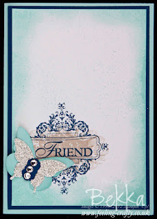 Affection Collection Butterfly Card by Stampin' Up! Demonstrator Bekka Prideaux