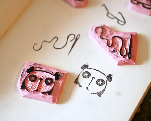 M i l k y r o b t rubber stamp carving tutorial