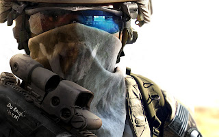 Ghost Recon Future Soldier Realistic Soldier with Glasses and Mask HD Game Wallpaper