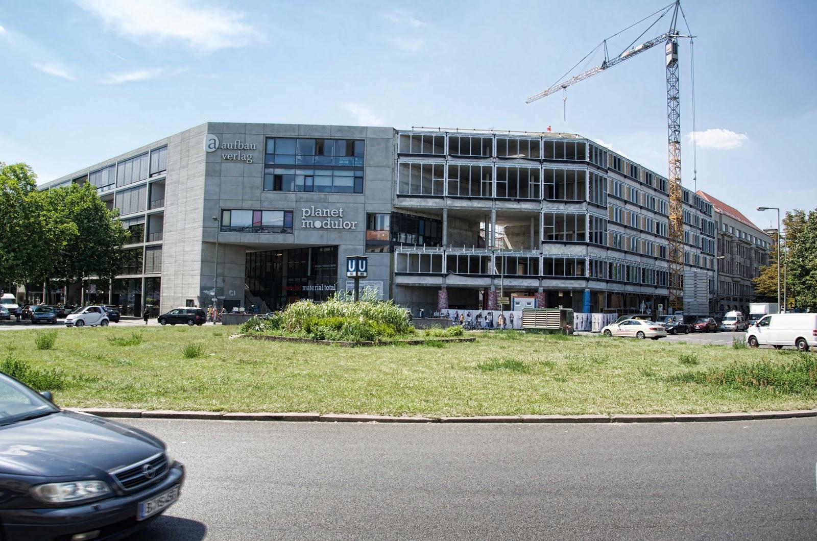Baustelle Erweiterung AUFBAU HAUS, Planet Modulor, Moritzplatz,  Oranienstraße, 10969 Berlin, 04.07