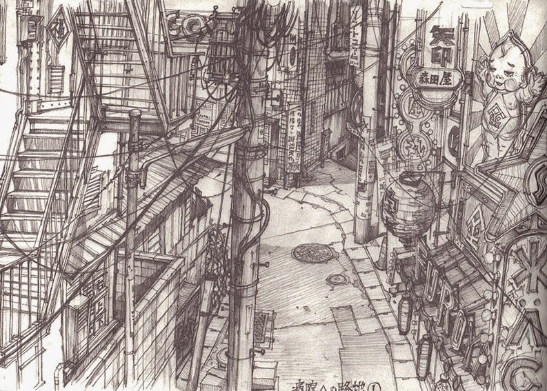 01-Teikoku-Shounen-Architectural-Drawings-in-Color-and-Black-and-White-www-designstack-co