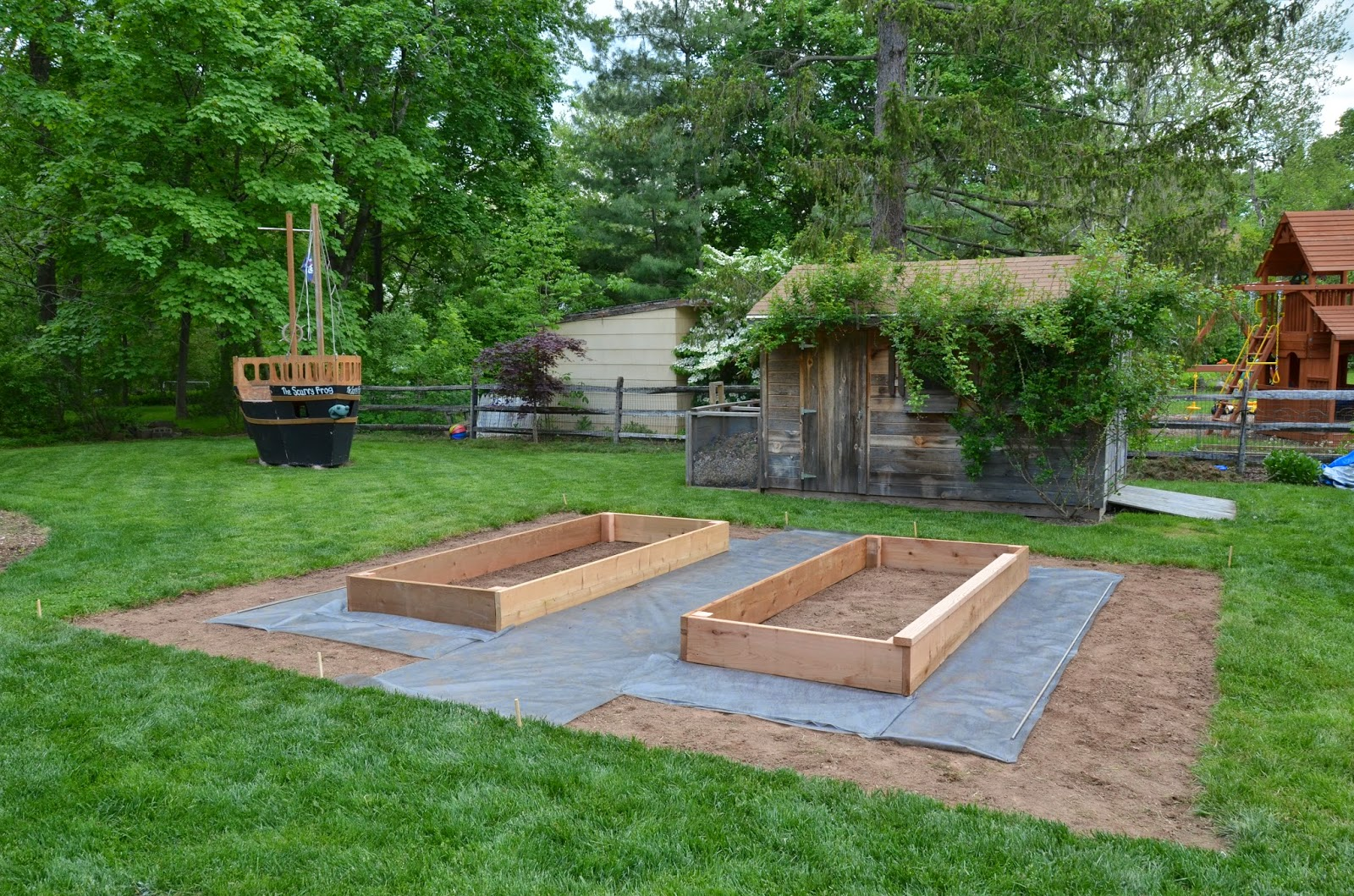 The princess and the frog blog the start of a small for Backyard patio landscaping