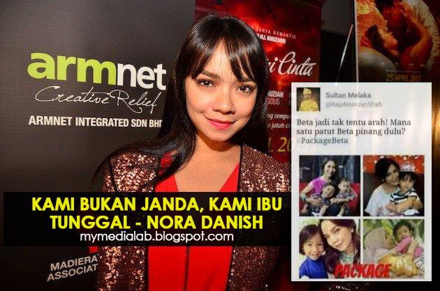Nora Danish kecewa dengan Sultan Melaka