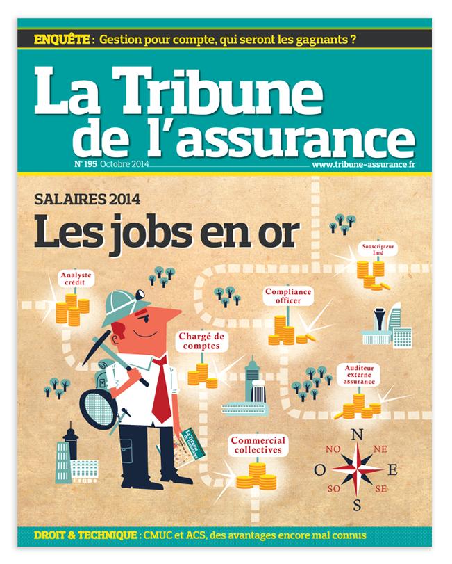 Illustration couverture la Tribune de l'Assurance