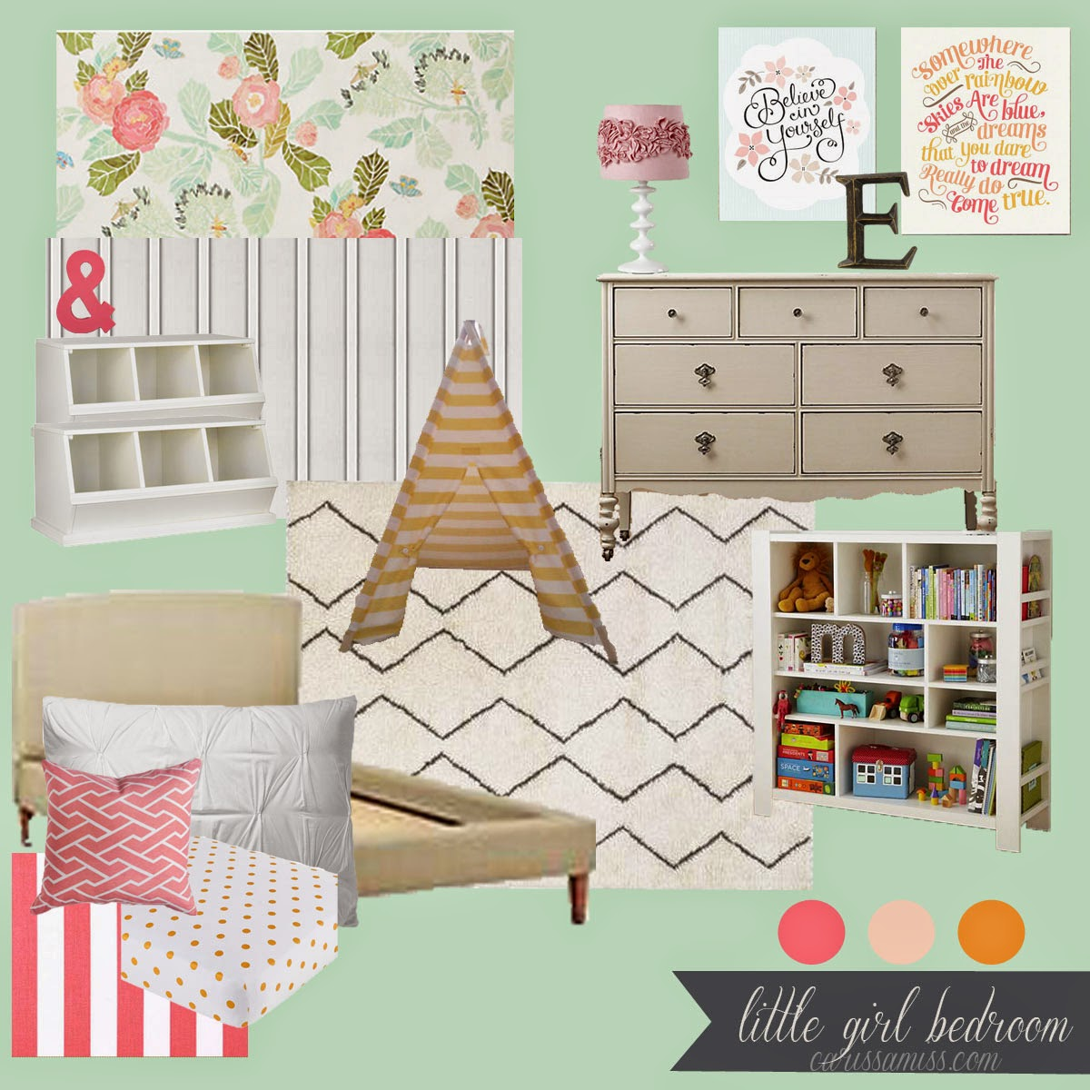Carissa Miss: Little Girl's room Mood Board