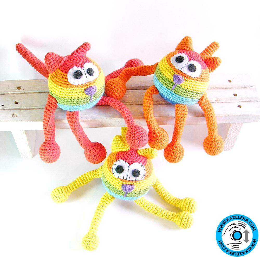 вязаные игрушки коты